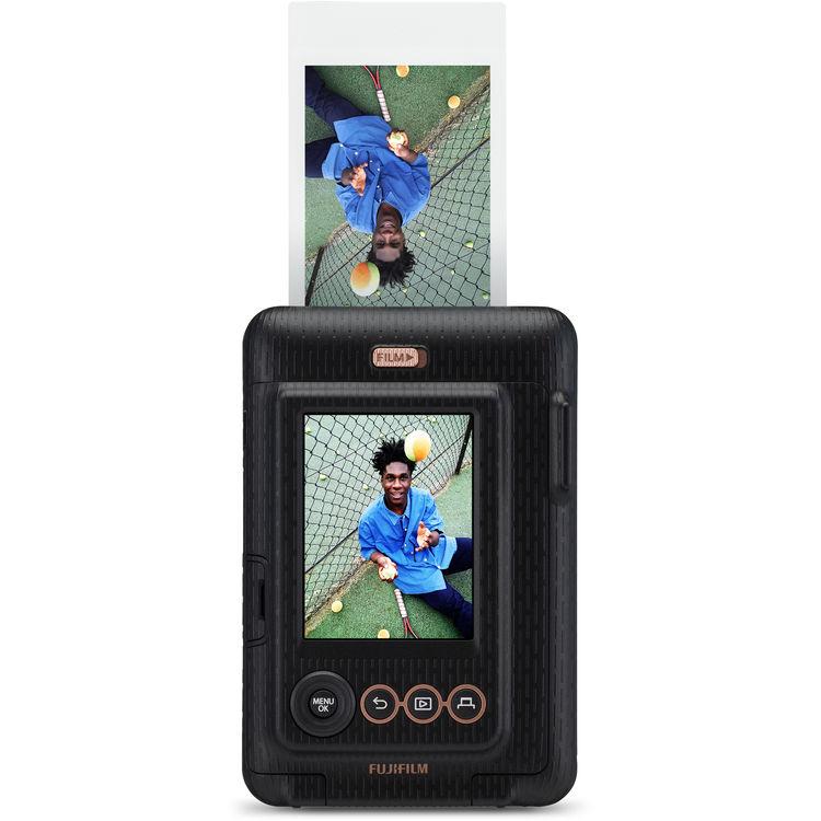 Instax Mini LiPlay fényképezőgép fekete színben