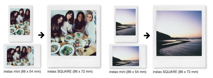 Fujifilm Instax SQUARE SQ6 képformátum